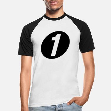 Number One number one - Men's Baseball T-Shirt