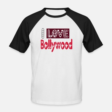Bollywood Jeg elsker bollywood - Baseball T-skjorte for menn