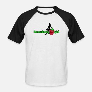 Hennenabend strawberry girl - Baseball T-skjorte for menn