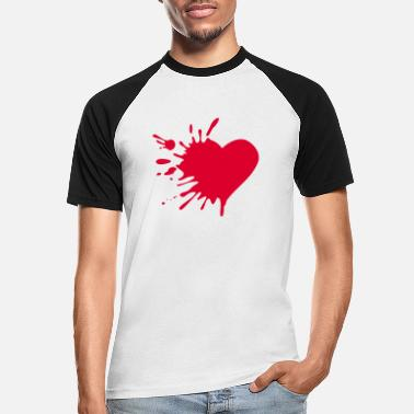 Love Hurts Love hurts - Männer Baseball T-Shirt