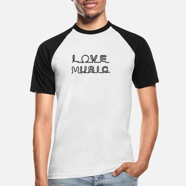 Musicstar LOVE MUSIC ICON * Jeg elsker Rock n Roll - Baseball T-skjorte for menn