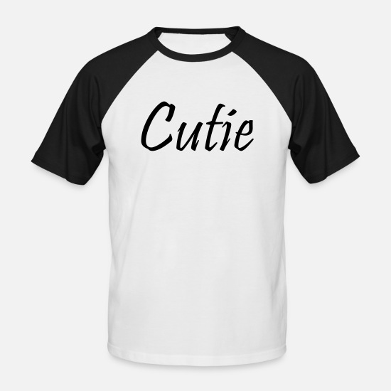 Cutie T-Shirts - Cutie 2 - Men's Baseball T-Shirt white/black