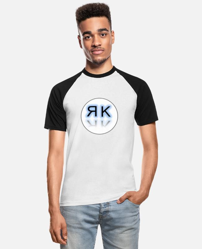 Cool T-Shirts - initials - Men's Baseball T-Shirt white/black