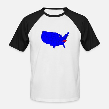 Northamptonshire State of North Carolina Location - Men's Baseball T-Shirt