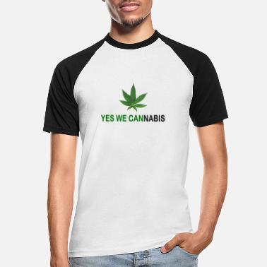 Yes We Cannabis Yes we cannabis - T-shirt baseball Homme