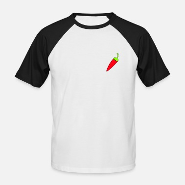 Pepper Chili pepper hot and fiery right at the heart - Men's Baseball T-Shirt