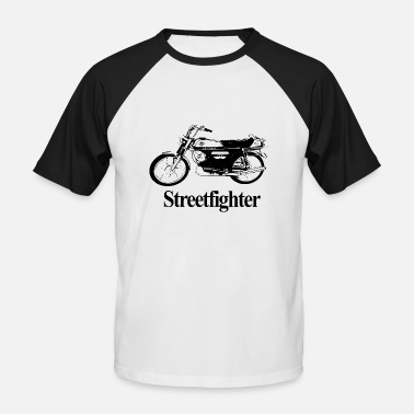 Streetfight Moped Streetfighter - Baseball T-skjorte for menn