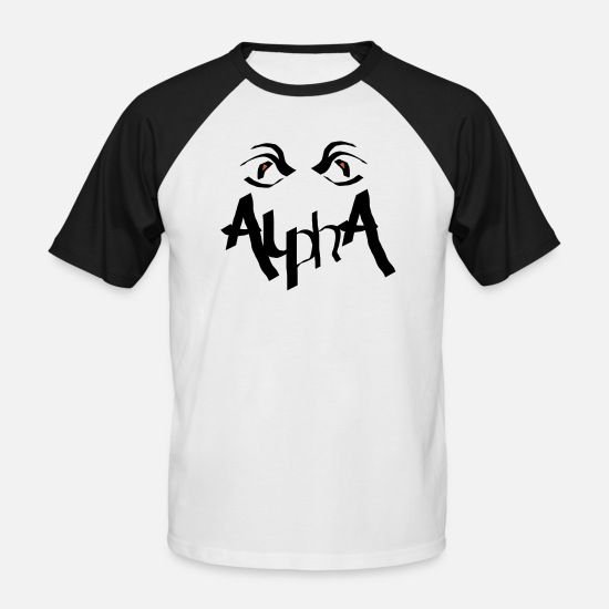 Drawing T-Shirts - Alpha Alphatier - Men's Baseball T-Shirt white/black