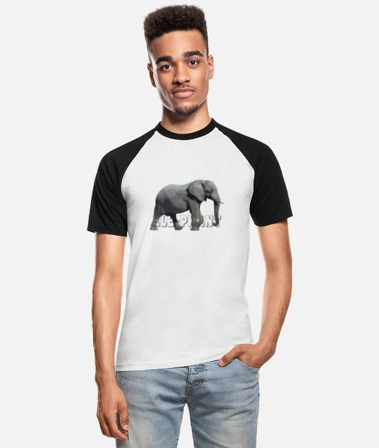 Animal Welfare T-Shirts - Elephant related products 2 - Men's Baseball T-Shirt white/black