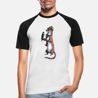 Weasel Weasel - Men's Baseball T-Shirt