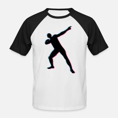 Victory Usian Bolt in 3D - Men's Baseball T-Shirt