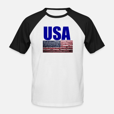 Usa USA - Baseball T-skjorte for menn