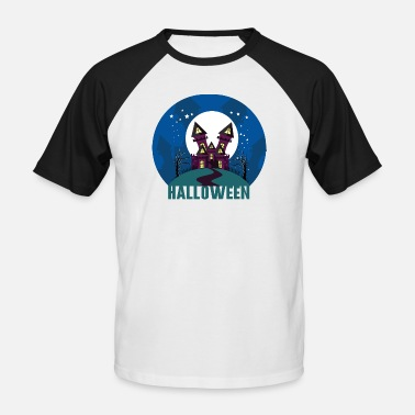 Haunting Halloween haunted house haunted house - Men's Baseball T-Shirt