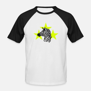 Signora zebra_on_white - Men's Baseball T-Shirt