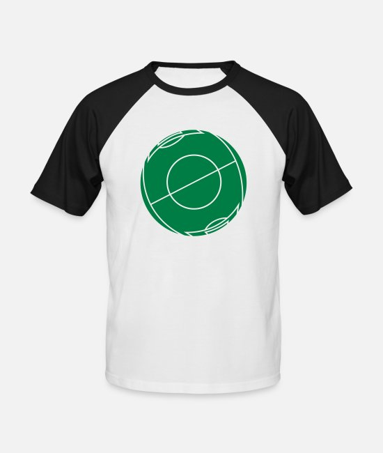 Ball T-Shirts - Football field as a ball - Men's Baseball T-Shirt white/black