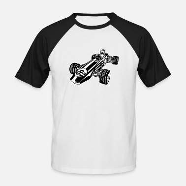 Race Car Race Car / Race Car 02_black white - Men's Baseball T-Shirt