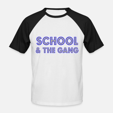 School & the Gang - Fever Disco 3D à l'école - T-shirt baseball Homme