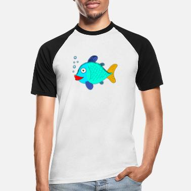 Blubber fish with blubber bubbles - Men's Baseball T-Shirt