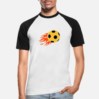 Meisterschaft brennender Ball - burning ball - Männer Baseball T-Shirt