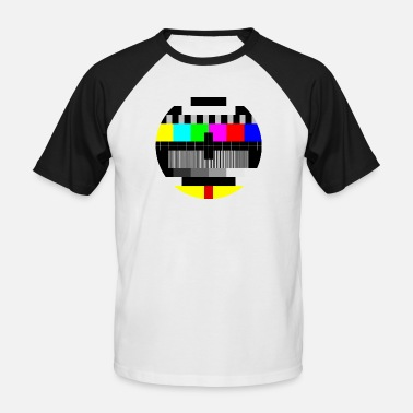 Tv Colour test card - Men's Baseball T-Shirt