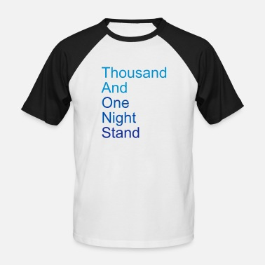 Nat thousand and one night stand (2colors) - Baseball T-shirt mænd