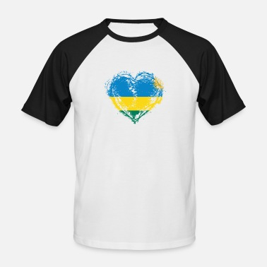 Country Love HOME ROOTS COUNTRY LOVE GIFT Ruanda - Männer Baseball T-Shirt