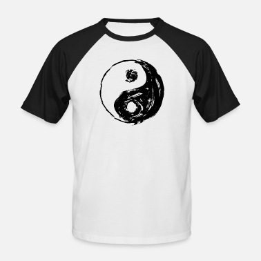 Tao Yin Yang roughly painted, with gaps - Men's Baseball T-Shirt
