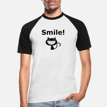 Smile Cat - Männer Baseball T-Shirt