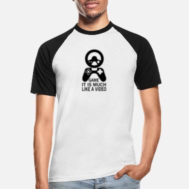 Video Video Game - Männer Baseball T-Shirt