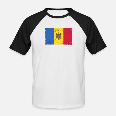 Moldavie Moldavie - T-shirt baseball Homme