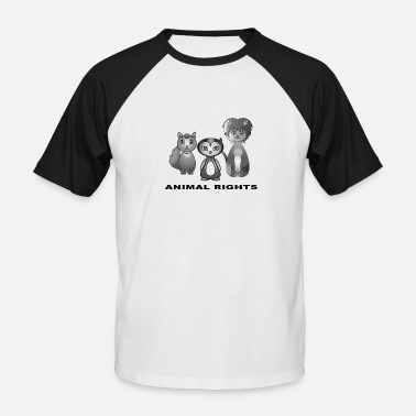 Animal Rights Animal rights - Männer Baseball T-Shirt