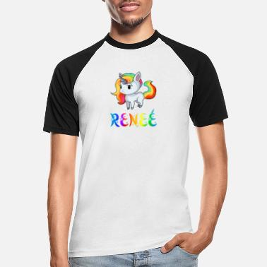 Renee Einhorn Reneé - Baseball T-skjorte for menn