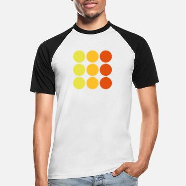 Point dots - Men's Baseball T-Shirt