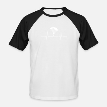Skydiving Skydiving - Sykdive - Heartbeat - Pulse - Men's Baseball T-Shirt