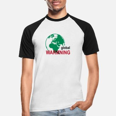 Warming global warming - Männer Baseball T-Shirt