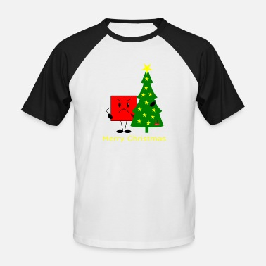Missmapel Merry Christmas - Grimly - Männer Baseball T-Shirt