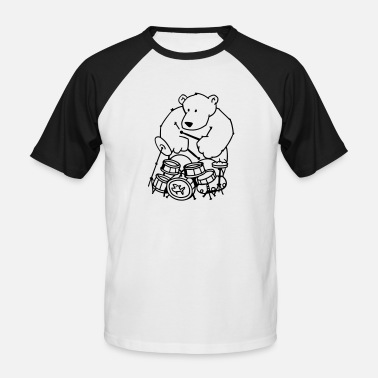 The bear plays drums - Miesten baseballpaita