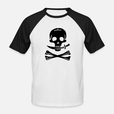 Pirate Skull Pirate Pirates Skull - Men's Baseball T-Shirt