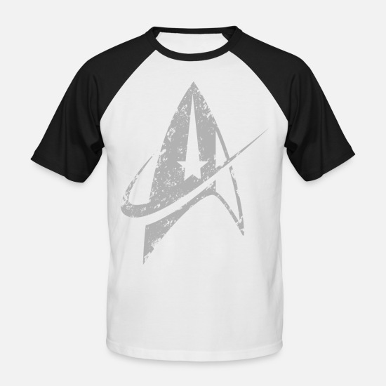 Geek T-Shirts - Star Trek Discovery Delta Insignia Silver - Men's Baseball T-Shirt white/black