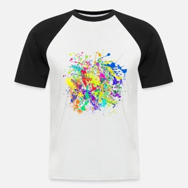 Fargerike klatter av malingssprut Kontrast T skjorte for