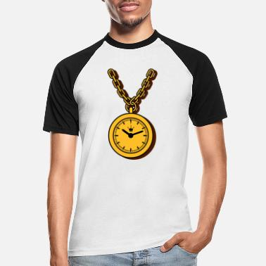 Clock clock chain - T-shirt baseball Homme