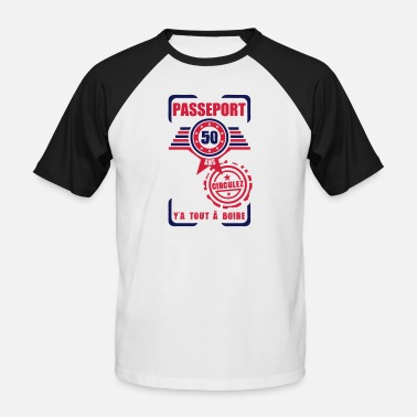 50 Years Old Birthday 50 years old birthday pass circulate - Men's Baseball T-Shirt