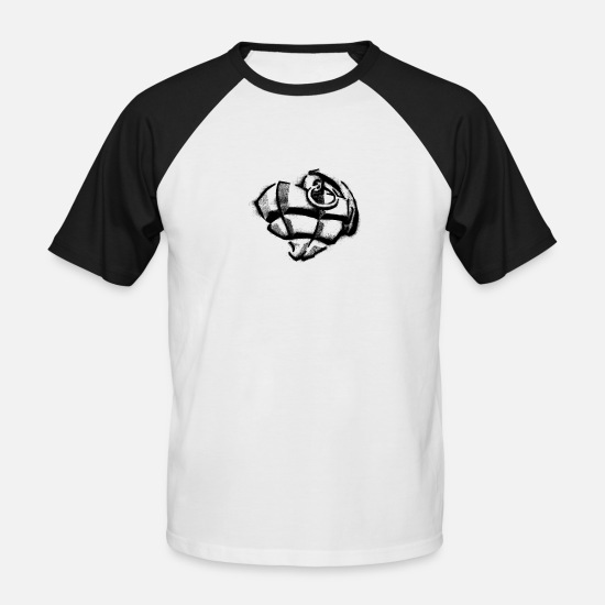Love T-Shirts - Heart Grenade Black - Men's Baseball T-Shirt white/black