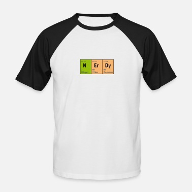 Blitzgescheit Periodic Table of Elements NErDy (Nerd Nerdy) - Men's Baseball T-Shirt