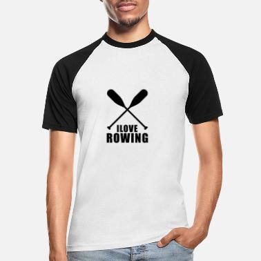Rowing Rowing Rowing Team Rowing Rowing Rowing - Men's Baseball T-Shirt