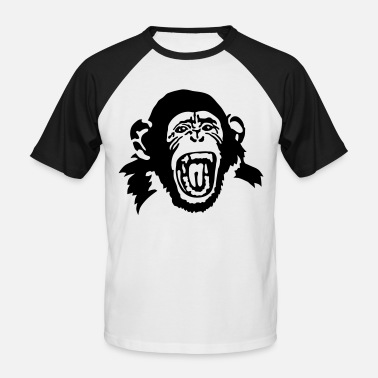 Chimpanze singe - T-shirt baseball Homme