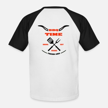 BBQ TIME - Friends Area - T-shirt baseball Homme