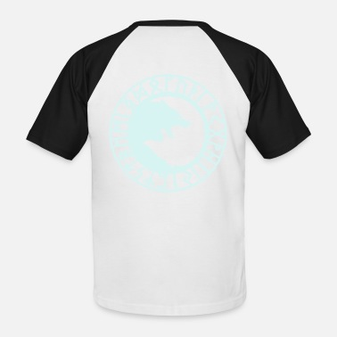 loup_runes_flocage - T-shirt baseball Homme