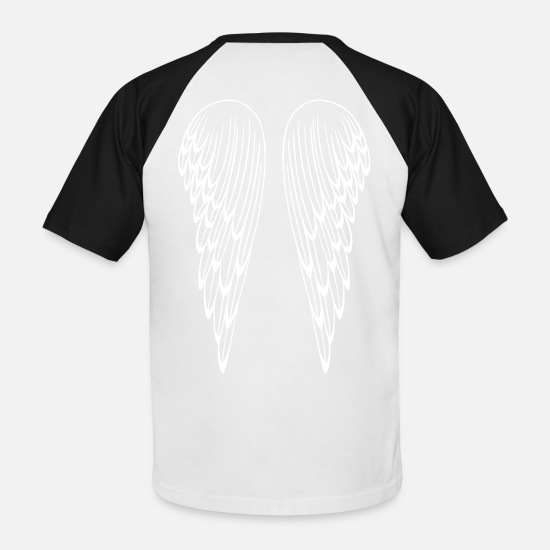 Wings T-Shirts - Angel wings, guardian angel, wings. - Men's Baseball T-Shirt white/black