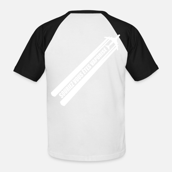 Écologie T-shirts - STOP CHEMTRAIL !! - T-shirt baseball Homme blanc/noir